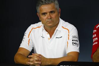 Gil de Ferran, Sporting Director, McLaren, in the Team Principals' Press Conference