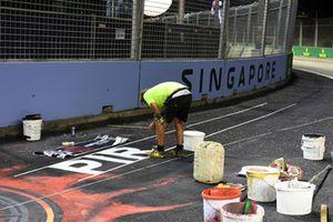 La piste est peinte