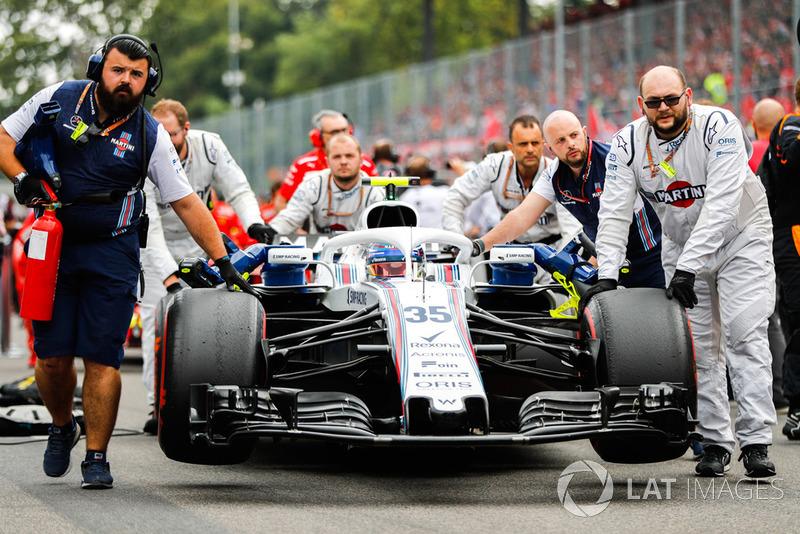 El equipo Williams trae a Sergey Sirotkin, Williams FW41, a la parrilla