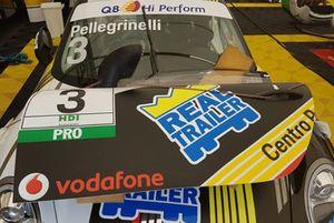 Dettaglio della Porsche 911 GT3 Cup di Simone Pellegrinelli, Bonaldi Motorsport
