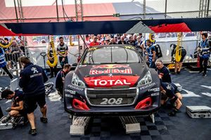 Car of Sébastien Loeb, Team Peugeot Total in the team area