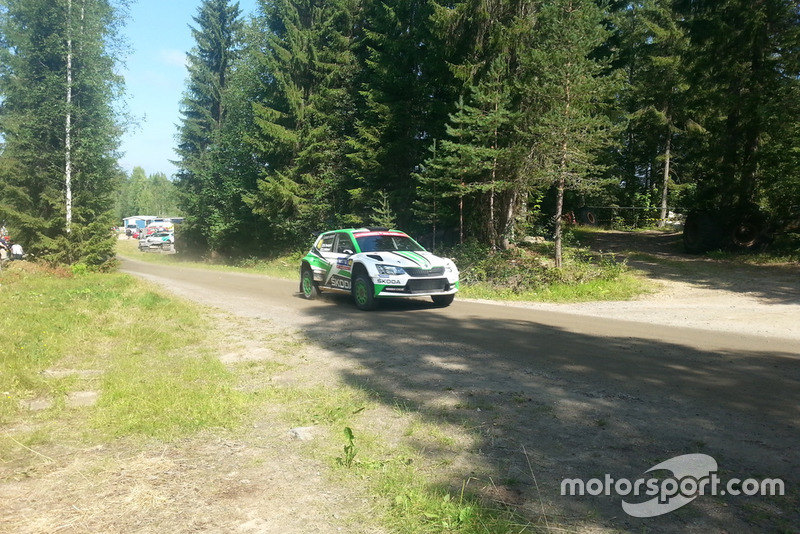 Kalle Rovanpera, Jonne Halttunen, Skoda Fabia R5, Skoda Motorsport