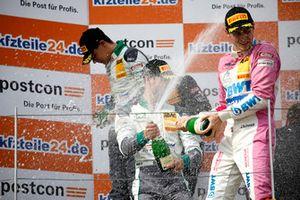 Podium: #28 Montaplast by Land-Motorsport Audi R8 LMS: Sheldon van der Linde, Kelvin van der Linde, #26 BWT Mücke Motorsport Audi R8 LMS: Jeffrey Schmidt