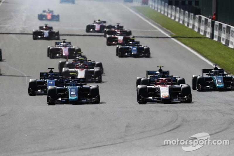 Start der Formel 2 in Spa 2018