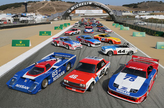 Classic Nissan racers group photo