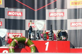 Le champagne sur le podium