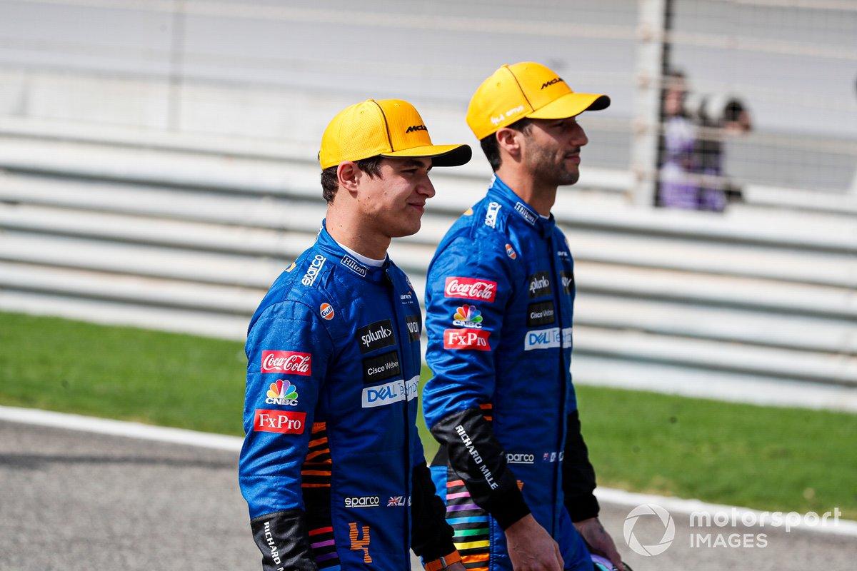 Lando Norris, McLaren e Daniel Ricciardo, McLaren