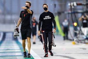 Romain Grosjean, Haas F1, in the pit lane prior to the start
