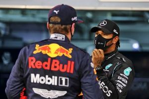 Polesitter Lewis Hamilton, Mercedes, third place Max Verstappen, Red Bull Racing