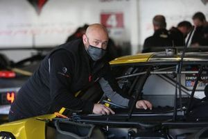 #3 Corvette Racing Corvette C8.R, GTLM is being attend to in the pit area