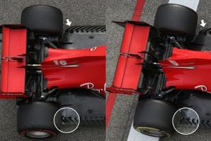 Ferrari SF1000 floor detail