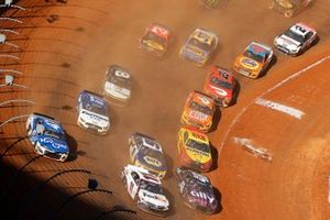 Aerial view of the dirt race