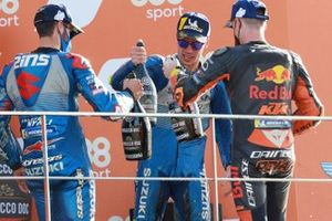 Race winner Joan Mir, Team Suzuki MotoGP, second place Alex Rins, Team Suzuki MotoGP, third place Pol Espargaro, Red Bull KTM Factory Racing