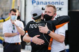 Polesitter Patricio O'Ward, Arrow McLaren SP Chevrolet, mit Taylor Kiel