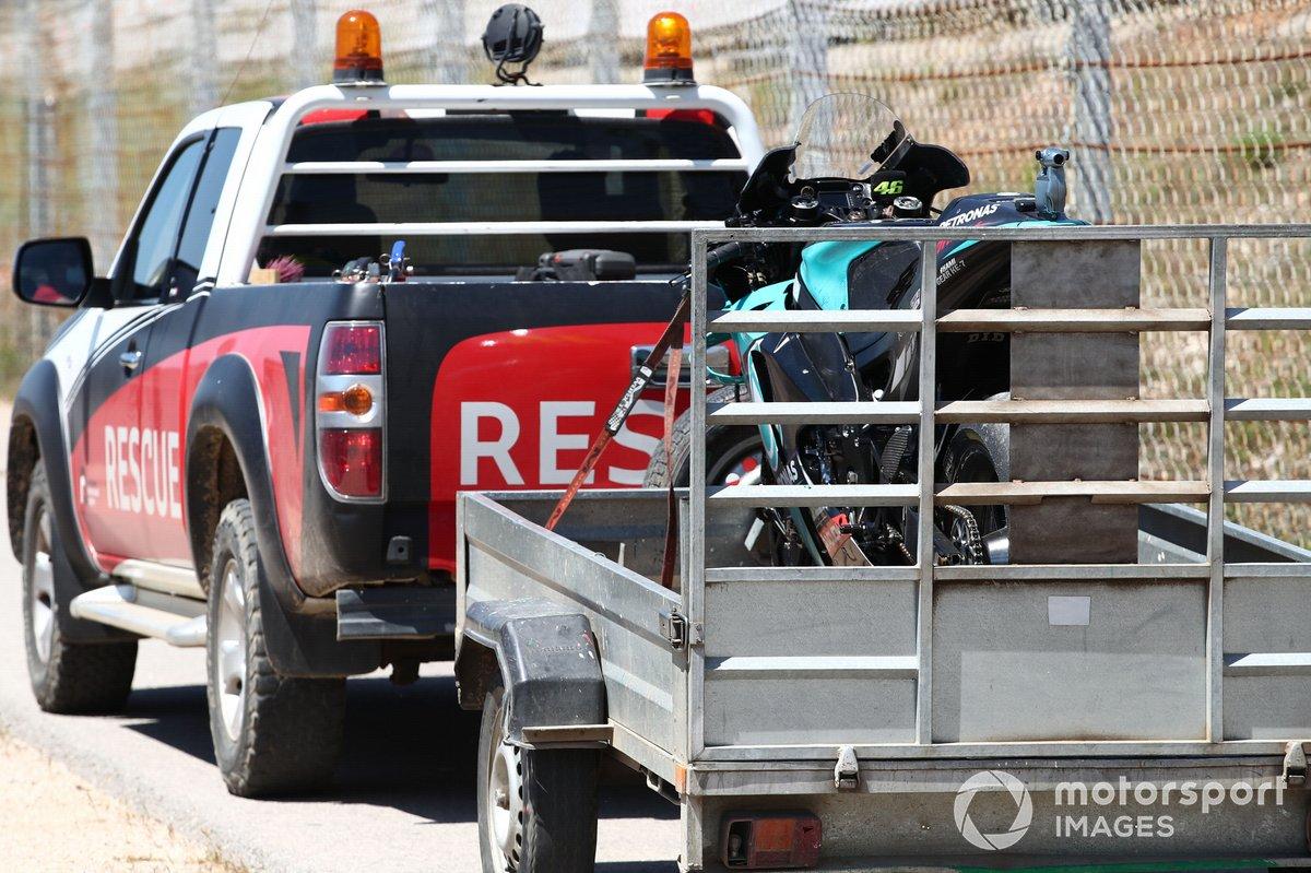 Moto accidentada de Valentino Rossi, Petronas Yamaha SRT