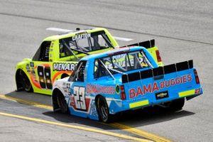 Matt Crafton, ThorSport Racing, Toyota Tundra Menards/Great Lakes Flooring and Chase Purdy, GMS Racing, Chevrolet Silverado BamaBuggies.com