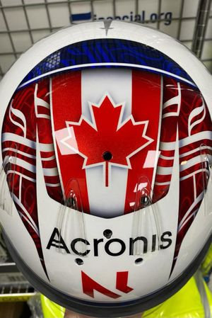 Helmet of Nicholas Latifi, Williams