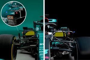 Aston Martin AMR21, Mercedes AMG F1 W12, dettaglio dei side pods