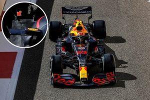 Detalle del fondo plano del Red Bull Racing RB16