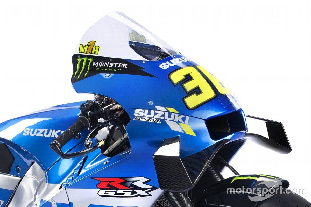 Joan Mir llevará el 1 de campeón en la cúpula de su Suzuki, en el mono y el casco