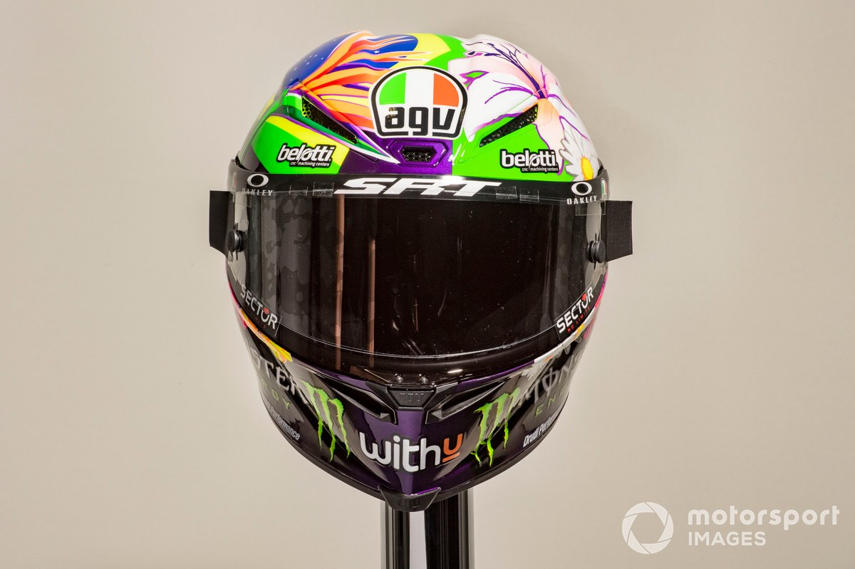 Le casque de Franco Morbidelli, Petronas Yamaha SRT