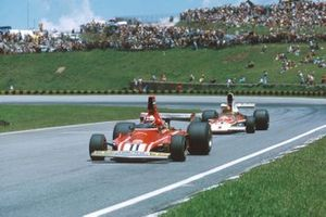 Clay Regazzoni, Ferrari 312T, Emerson Fittipaldi, McLaren M23