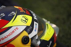 The helmet of Sergio Perez, Red Bull Racing