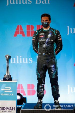 Mitch Evans, Panasonic Jaguar Racing, 3rd position, on the podium