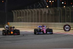 Sergio Perez, Racing Point RP20, Alex Albon, Red Bull Racing RB16