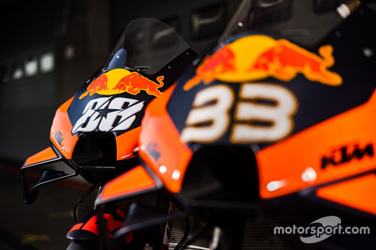 Bikes of Miguel Oliveira, Red Bull KTM Factory Racing and Brad Binder, Red Bull KTM Factory Racing