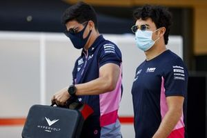 Sergio Perez, Racing Point in the paddock