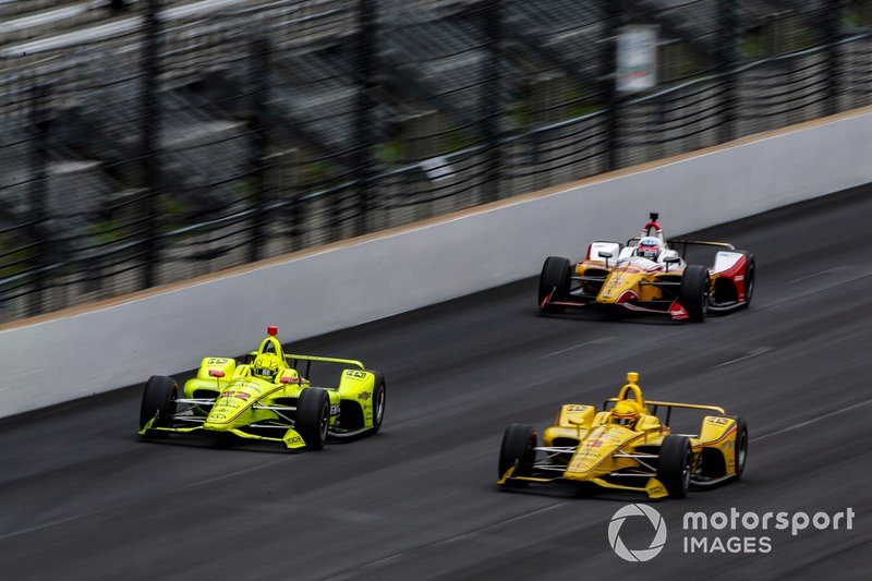 Simon Pagenaud, Team Penske Chevrolet, Helio Castroneves, Team Penske Chevrolet