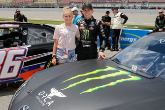 Riley Herbst, Joe Gibbs Racing, Toyota Supra Monster and guest