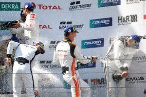 Podium: #3 Mercedes AMG Team Black Falcon Mercedes AMG GT3: Maximilian Buhk, Hubert Haupt, Thomas Jäger, Luca Stolz