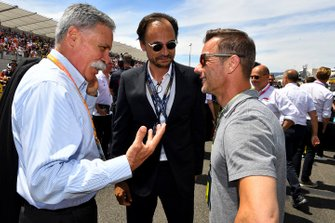 Chase Carey, Chairman, Formula 1 with Sébastien Loeb