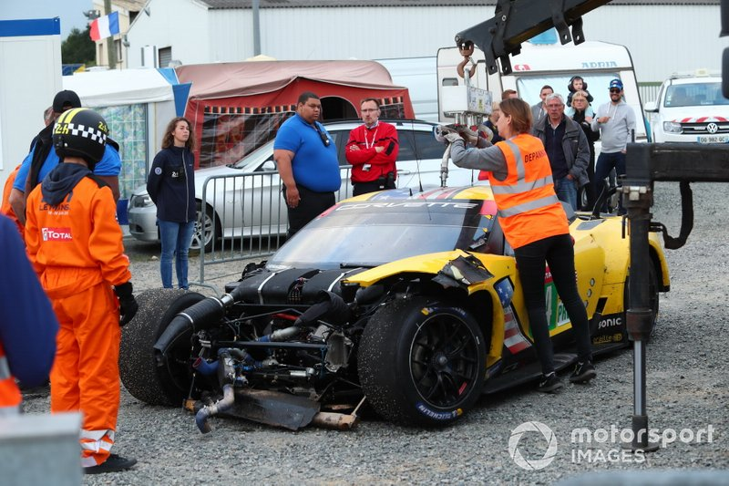 Crash: #64 Corvette Racing, Chevrolet Corvette C7.R, Oliver Gavin, Tom Milner, Marcel Fässler
