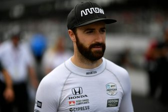 James Hinchcliffe, Arrow Schmidt Peterson Motorsports Honda durante la pit stop competition