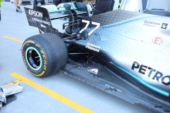 Valtteri Bottas, Mercedes AMG F1 W10 rear wing detail