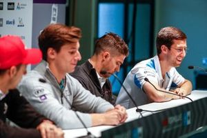 Alexander Sims, BMW I Andretti Motorsports, in the press conference, with Edoardo Mortara, Venturi Formula E, Alex Lynn (GBR), Panasonic Jaguar Racing, Sébastien Buemi, Nissan e.Dams