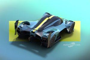 Render de Motorsport Network del hipercoche basado en el Aston Martin Valyrie