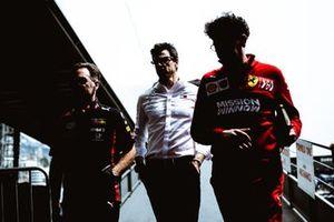 Christian Horner, Red Bull, Toto Wolff, Mercedes AMG, Mattia Binotto, Ferrari