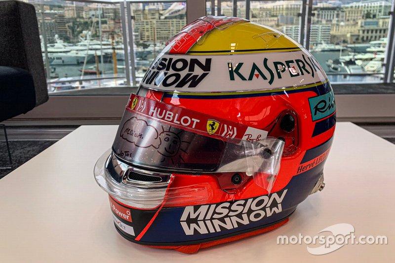 Casco de Charles Leclerc, Ferrari
