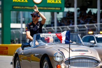 Pierre Gasly, Red Bull Racing, in the drivers parade