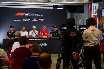 Pierre Gasly, Red Bull Racing, Valtteri Bottas, Mercedes AMG F1, Carlos Sainz Jr., McLaren, Sebastian Vettel, Ferrari and George Russell, Williams Racing in Press Conference