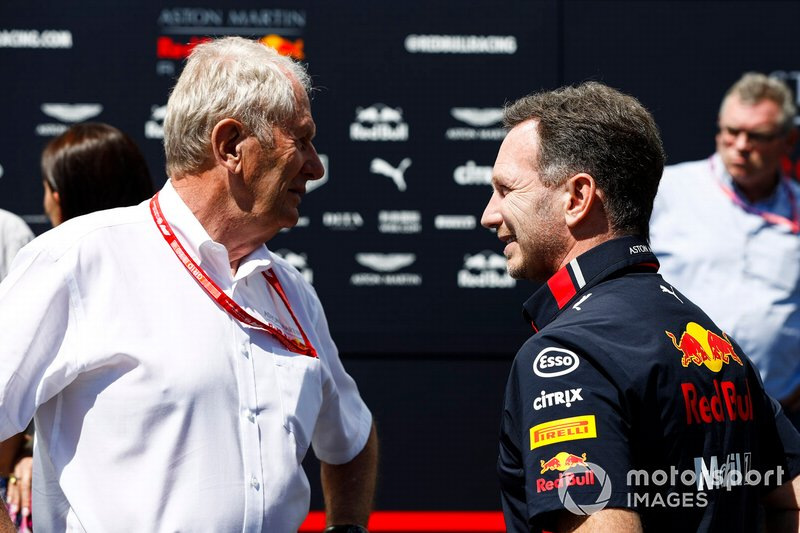 Helmut Marko, Consulente, Red Bull Racing e Christian Horner, Team Principal, Red Bull Racing