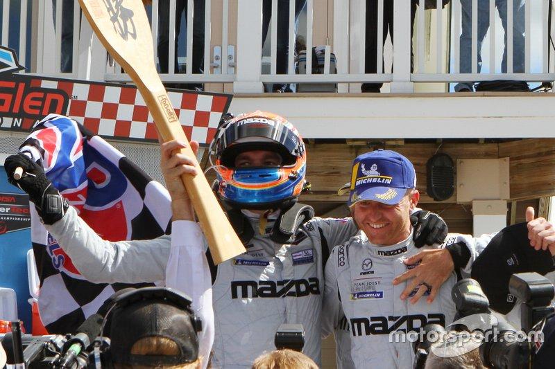 Race winner #55 Mazda Team Joest Mazda DPi, DPi: Harry Tincknell, Olivier Pla