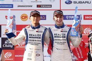 GT300 podium: second place #56 Kondo Racing Nissan GT-R: Kazuki Hiramine, Sacha Fenestraz