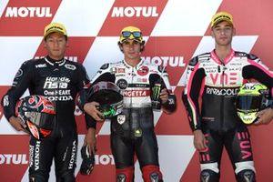 Polesitter Niccolo Antonelli, SIC58 Squadra Corse, second place Kaito Toba, Honda Team Asia, third place Tony Arbolino, Team O