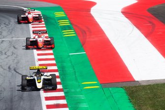 Max Fewtrell, ART Grand Prix and Marcus Armstrong, PREMA Racing et Jehan Daruvala, PREMA Racing