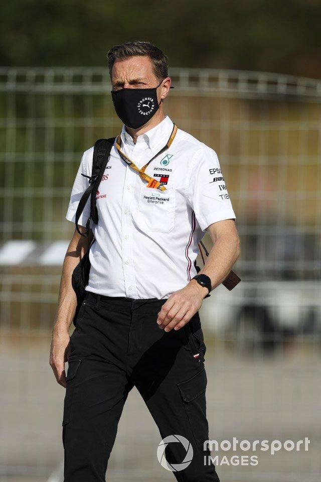 Los miembros del equipo Mercedes-AMG Petronas F1